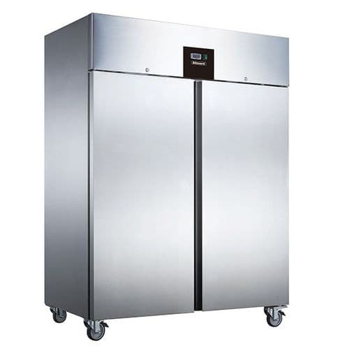 Blizzard BR2SS DOUBLE DOOR VENTILATED GN2/1 SS REFRIGERATOR 1300L